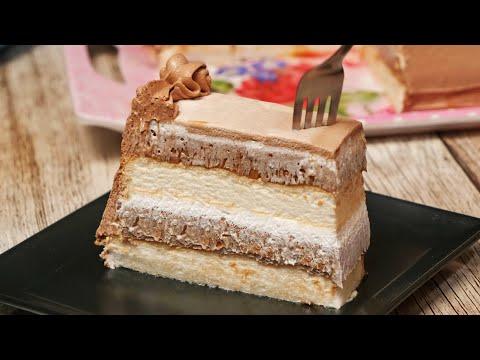 Puslica torta / Meringue chocolate creamy and tasty cake (ENG SUB)
