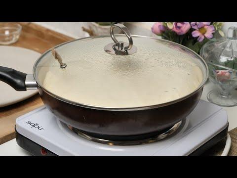 Pogača iz tiganja - Pan bread recipe - ASMR
