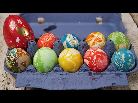 Kako ofarbati jaja za Uskrs bojama za kolače