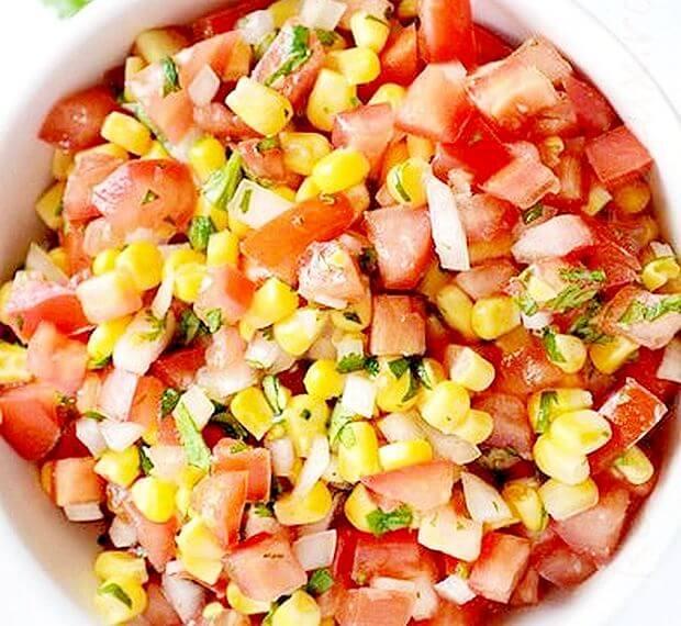 salata od kukuruza u paradajza