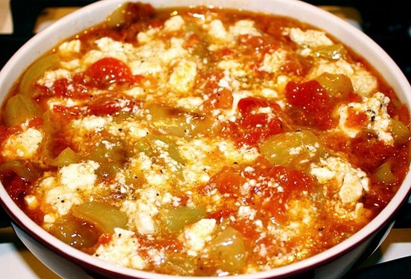 paprika i paradajz sa jajima