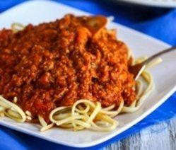 Spageti u sosu od sampinjona i mesa