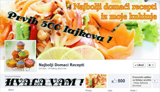 500 lajkova - domaci recepti