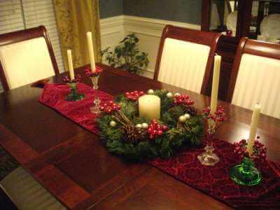 Novogodišnja dekoracija stola, jednostavno - domaći recepti