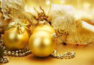 Novogodišnja dekoracija stola, zlatno2 - domaći recepti