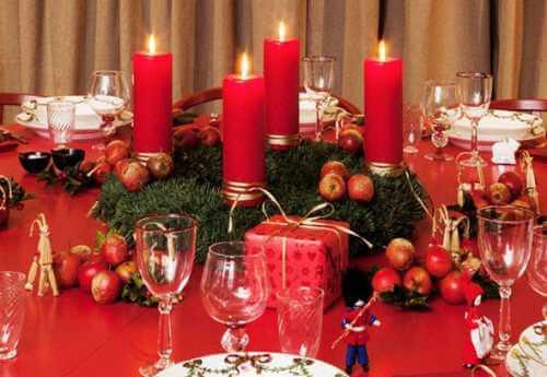Novogodišnja dekoracija stola, crveno3 - domaći recepti