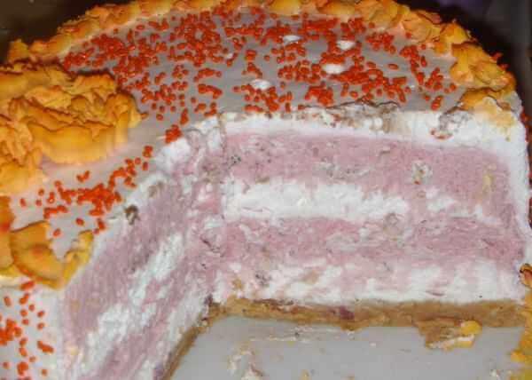 Nepečena torta - slatka pavlaka, višnje, keks