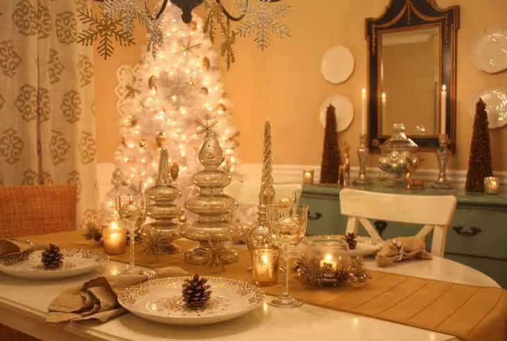 Novogodišnja dekoracija stola, zlatno3 - domaći recepti