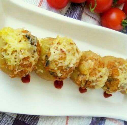 punjeni krompir sojom i sampinjonima