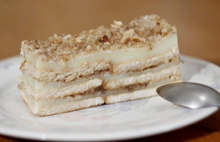 posna keks torta