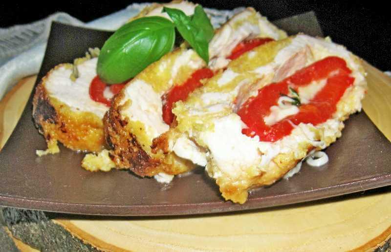 Punjeno belo meso paprikom i sirom