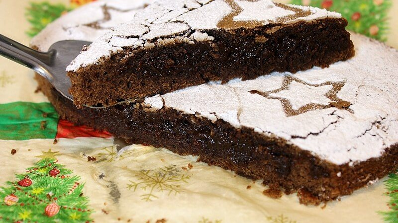 kladdkaka lepljivi kolac
