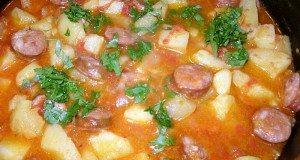 krompir paprikaš sa kobasicom