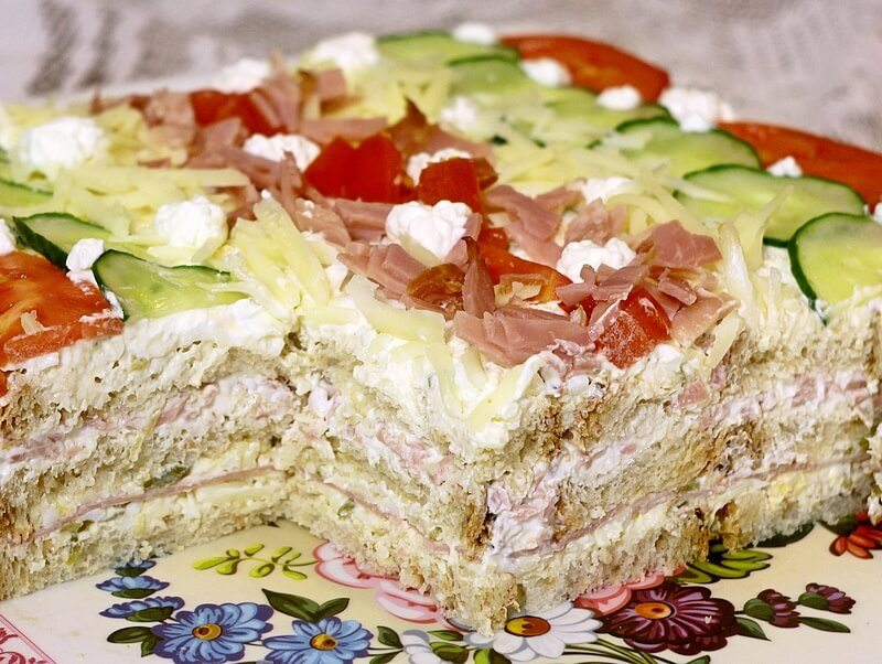 slana torta sa tostom