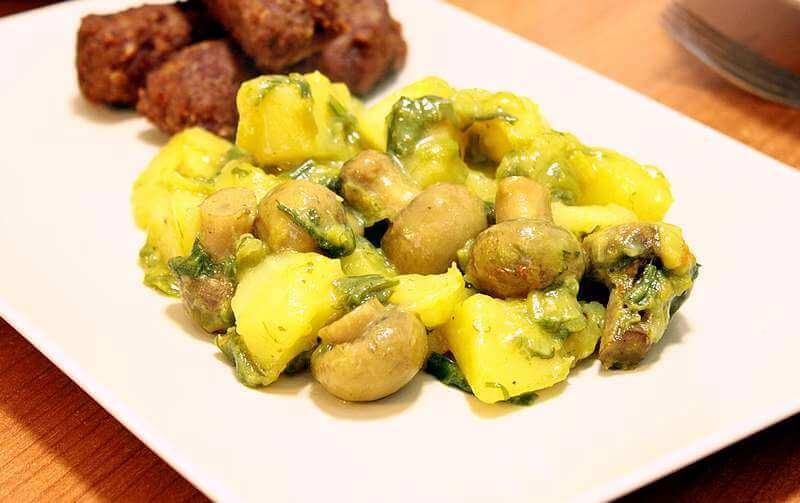 krompir iz rerne sa sampinjonima i prazilukom