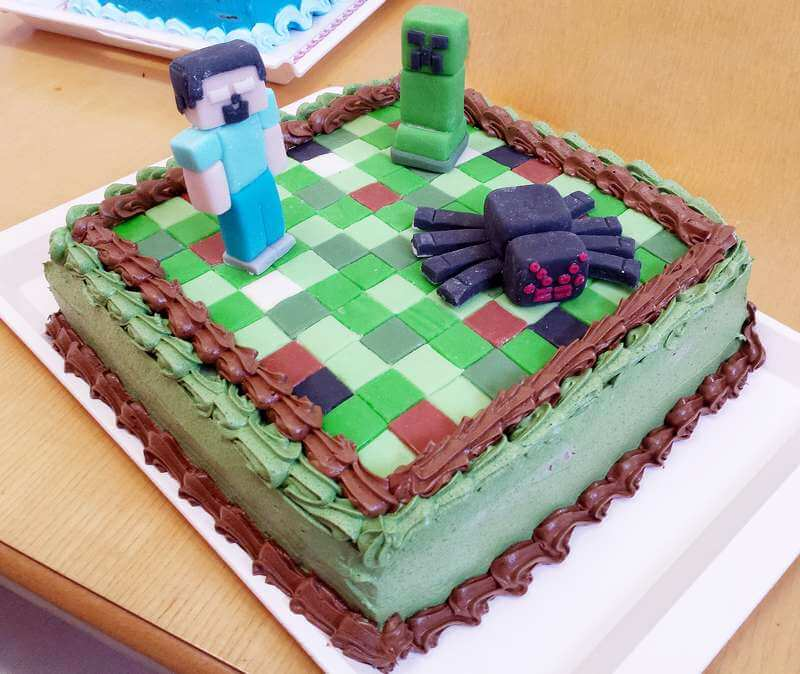 minecraft torta - cokoladna torta