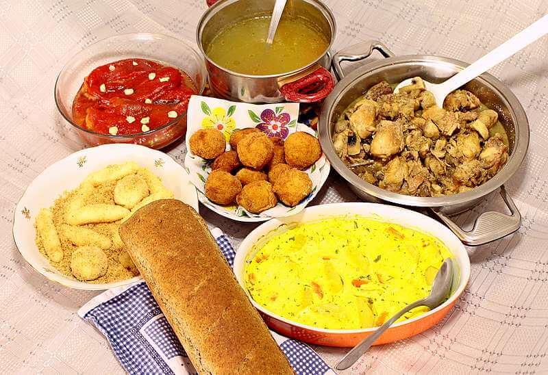 rucak, piletina ,sampinjoni, supa, salata, krompir