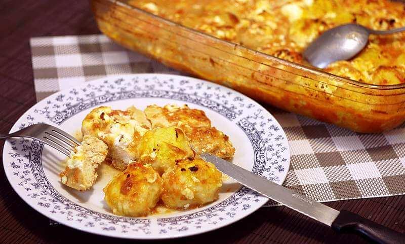 knedle od krompira i piletina