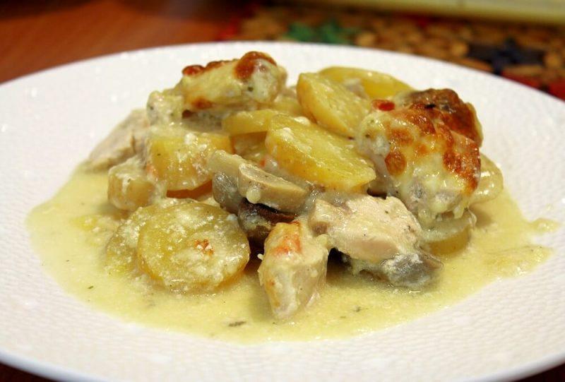 krompir sa piletinom iz rerne