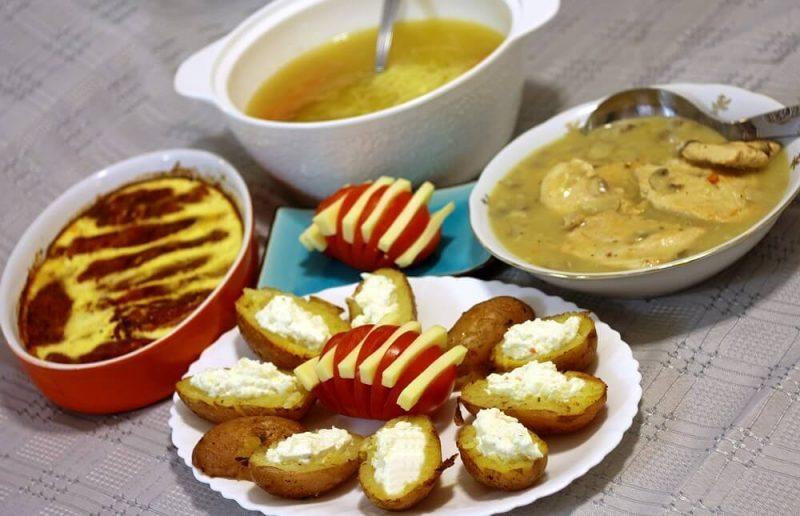nedeljni rucak - supa, krompir, meso