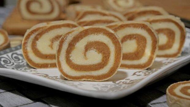 Karamel rolat u oblandi sa keksom i kokosom